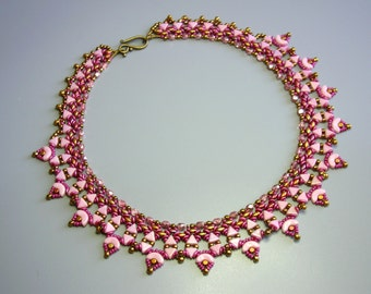 Tutorial - Arcadia Necklace - Arcos and Minos, Kheops, Superduo and Fire Polish beading tutorial
