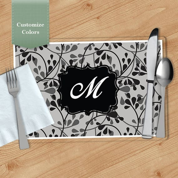 drop vine personalized placemat customized placemats custom