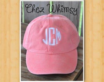 Monogrammed Baseball Cap, Monogrammed Ladies Cap, Womens Baseball Cap, Monogram Cap, Monogrammed Hat, Monogram Hat