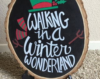 Handmade wooden chalk art