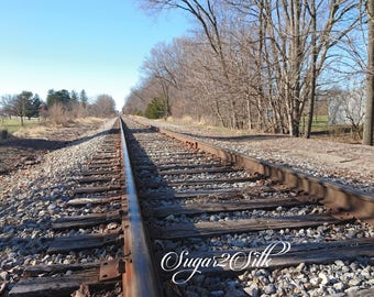 Train Track Close Up Print or Backdrop Angle 3