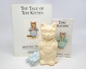 Vintage Tom Kitten French Soap and Beatrix Potter Book The Tale of Tom Kitten,  Toto Le Minet Soap, by Crabree & Evelyn, London, England