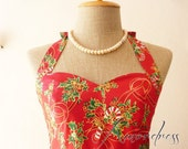 Thanksgiving SALE Christmas Party Dress // Red Christmas Candy Dress // Christmas Celebration Dress // Party Dress -XS-XL-