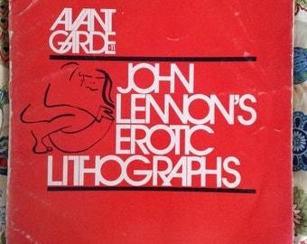 John Lennon Portfolio Erotic Lithographs Avant Garde Magazine