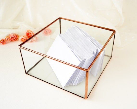 Glass Wedding Gift Box : Wedding Card Box, Envelope Holder, Glass Box, Wedding Gift, Gift For ...