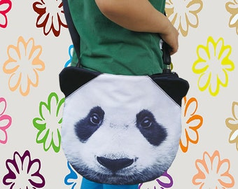 Panda LARGE cross body, shoulder bag,  tote bag, print tote, pet  , pet lover bag, animal  bag, GR 1170