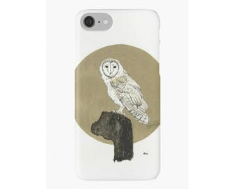 Owl Art iPhone Case iPhone 4 5s 5c 6 6s 7 Plus Cover Hard Case Unique Stylish Painting Design Illustrated iPhone Case Owl Illustration