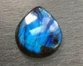 Chatoyant Labradorite flat back cabochon - stone for bezel - stone for jewelry making     Item #17-010608