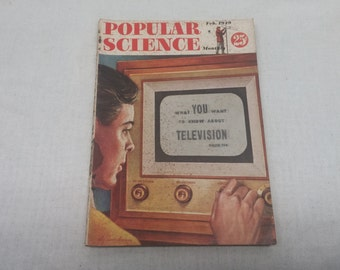 Popular Science February 1949 - Great Condition - Fascinating Articles and Hundreds of Vintage Advertisements