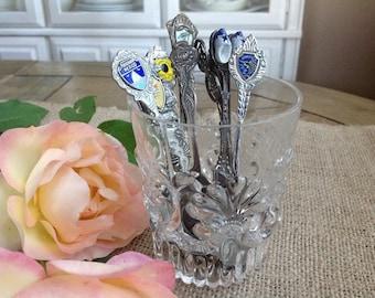 9 Vintage Souvenir Spoons Instant Collection