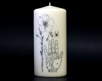 Pillar Candle - Palmistry - Spider