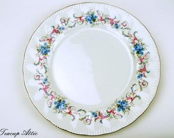 Paragon Romance Dinner Plate, Vintage English Bone China Dinner Plate, Replacement China, ca 1950