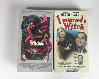 Lot of 2 The Witches, I married A Witch (VHS) Veronica Lake
