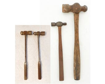 4 Ball-Peen Hammers Large & Small Machinist Metal Working