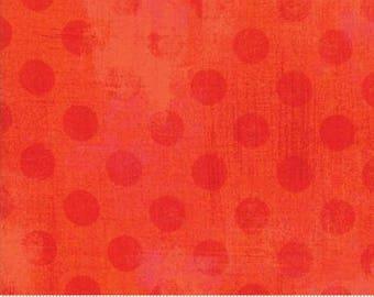 Grunge Hits the Spot - Dots in Tangerine - Basic Grey for Moda - 30149-19 - 1/2 yard