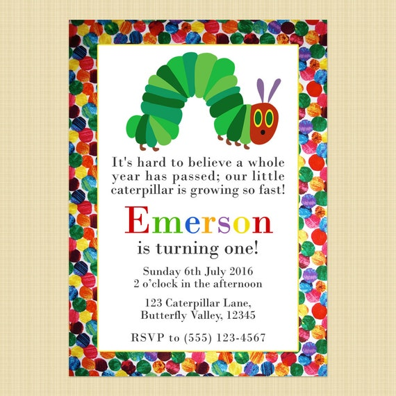 the very hungry caterpillar birthday invitation card hungry. Black Bedroom Furniture Sets. Home Design Ideas