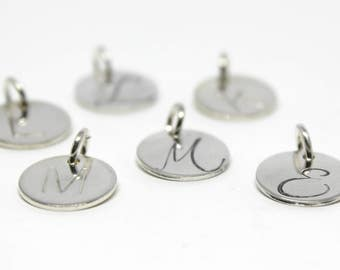 Small Initial Charm - Sterling Silver