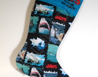 Jaws Fully Lined Christmas Stocking
