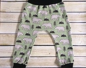 Mountain Bears Organic Knit Harem Pants Sizes 0/3 Months- 6. Organic clothing for Babies, Toddlers & Children