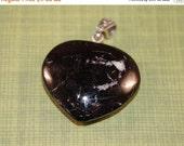 40% Savings Black Tourmaline Handcut OOAK Heart Pendant Metaphysical New Age Protection Gemstone Magick Pagan Wicca bth16C