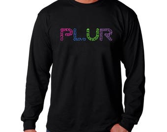 Men's Long Sleeve T-shirt - Created out of the EDM Subculture of Peace. Love. Unity. Respect PLUR