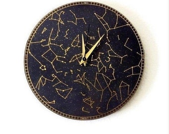 Constellation Wall Clock, Silent Wall Clock,,Trending Wall Art, Astrology, Astronomy, Home and Living, Home Decor, Decor & Housewares