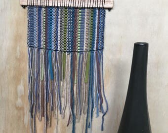 SALE - 50% reduced - Contemporary hand made woven wall hanging
