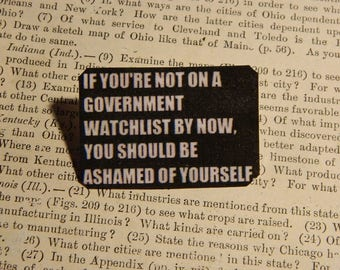 1st Amendment Jewelry Free Speech jewelry Humor If You're not on a Government Watch List by Now