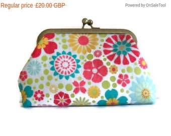 On Sale Large Framed Clutch Purse - Cosmetic Purse - Bridesmaid Gift -  UK Seller