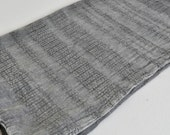 Cotton hand towel Peshkir hand loomed stone washed wicker stripe in grey light weight