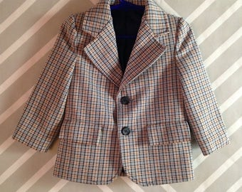 vintage sears plaid blazer for toddler size 2-3 years