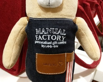 Diary Traveler's Notebook Manual Factory Bear (Medium Size)