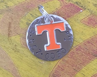 University of Tennessee Volunteers custom Dog ID Tag, Vols Fan, Dog Collar, dog Tag phone number
