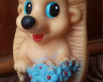 very cute crew cut, vintage rubber toy from USSR