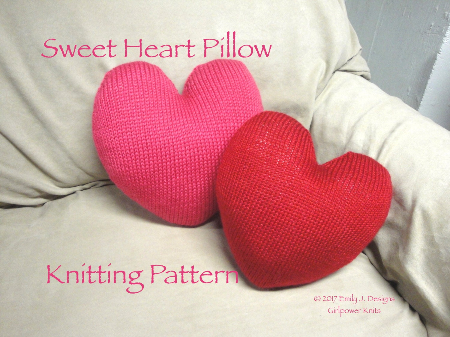 Sweet heart pillow knit pattern heart shaped cushion throw this is a digital file bankloansurffo Gallery