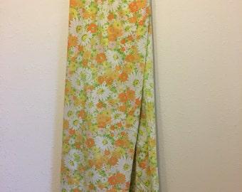 Vintage Bed Sheet, Floral Bed Sheet, Double Flat Sheet, Double Bedsheet, Groovy Floral Bedding