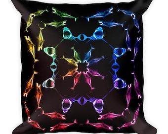 Rainbow Shark Pillow, Pillow, Throw Pillow, Shark Pillow, Shark Throw Pillow, Rainbow Pillow, Rainbow Throw Pillow, Shark Home Decor