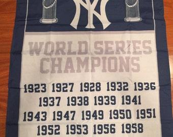 New York Yankees World Series Champions 3 X 5 Feet  Flag Banner MLB Baseball Fan