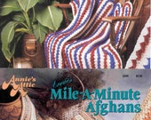 2 ea. booklets for Annie's Attic Crochet Afghans 'Mile-A-Minute' technique for a total of 12 styles of Throws - Very Nice Styles!