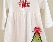 Monogram Christmas Tree Dress