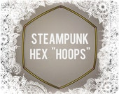 """Custom HEX Hula Hoop - Steampunk 5/8"""" POLYPRO and HDPE Dance & Exercise Collapsible push button, copper metal, color morph, rainbow"""