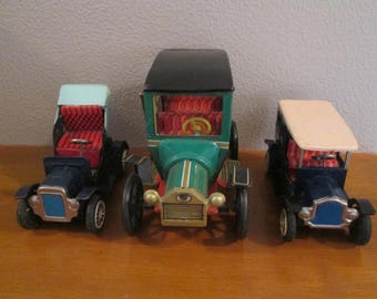 3 Vintage Tin Toy Cars Made in Japan