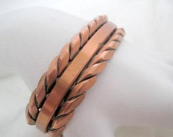 Copper Cuff -  Rope Style - Design Wrap Bracelet