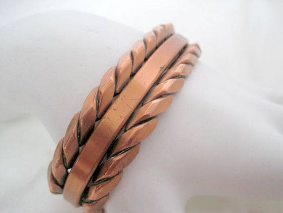 Copper Cuff -  Rope Style - Design Wrap Bracelet