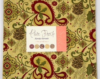SALE Pine Fresh Layer Cake by Sandy Gervais for Moda - One Layer Cake - 17770LC