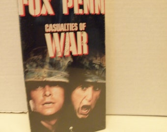 Casualties of War VHS Video Tape New Factory Sealed Sean Penn Michael J Fox
