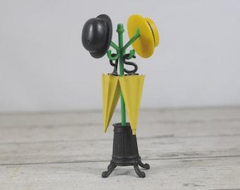 Vintage Hat Rack Salt Pepper Set & Umbrella Stand Toothpick Holder