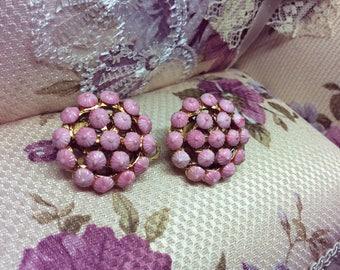 Marvella Pink Clip on Earrings