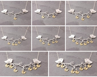 Grandma Necklace, 1-8 kids, nana necklace, grandmother, family necklace, mother necklace, gifts for grandma, initial necklace, N4