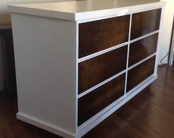 Mid Century Two Tone Double Dresser